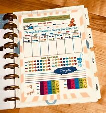 Fitness/Sleep/Water/Food Log Dashboard Insert for use with Happy Planner