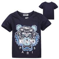 2-13Y NEW Kids' Boys Girls Summer cotton Short-sleeved T-shirt 4 Color