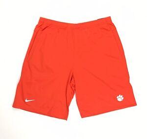 Clemson Tigers Football Nike Knit Coaches Short Pockets Men's M Orange AO5921