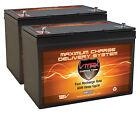 Qty2 Vmax Mr127-100 Agm Grp 27 Batteries Motorguide X5-80lb 24v Trolling Motor