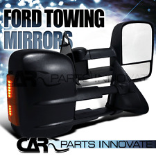 97-03 F150 Regular Super Cab Telescoping Towing Side Mirrors Power+LED Signal