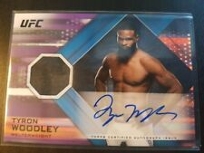 Topps ufc 2019 Knockout Tyron Woodley Autograph relic Numbered/25
