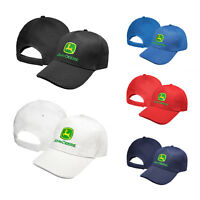 John Deere CARBON Baseball Cap Embroidered Auto Logo Tractor Hat Mens Womens