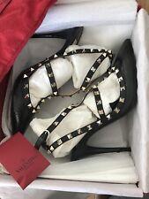 Valentino Garavani Black Rock Stud Shoes Uk8