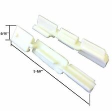 Sliding Shower Door Bottom Sill Guide - Pack of 2