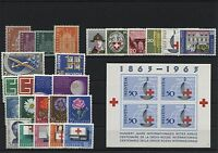 Schweiz Switzerland Jahrgang yearset 1963 postfrisch  ** MNH komplett sh. Shop