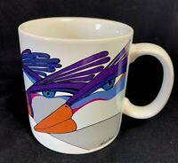 Laurel Burch Harlequin Exotic Birds Art Deco Mug