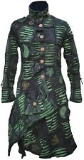 Long Gothic Cotton Patchwork Fleece Line Asymmetrical Embroidery Hippie Coat