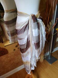 Steve Madden Oversized Multicolored Semi-sheer Wrap Coverup Scarf