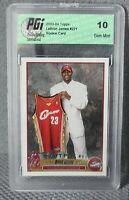 2003-04 Topps LeBron James Rookie RC #221 PGI 10 Gem Mint!! Hot! PSA10? BGS 10?