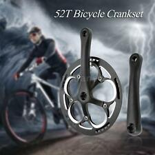 BICYCLE CRANK SET 52 Teeth FOR:FIXED GEAR/ TRACK BIKE/ SINGLE SPEED BICYCLE T8F2