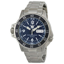 Seiko 5 Dark Blue Dial Stainless Steel Compass Automatic Mens Watch SKZ209J1