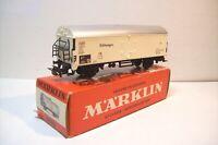 WAGONS TRAIN HO : FRIGORIFIQUE SUR ESSIEUX de MARKLIN OCCASION (en boite 4620)