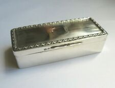 Antique Solid Silver Snuff / Trinket Box 1915 Henry Matthews