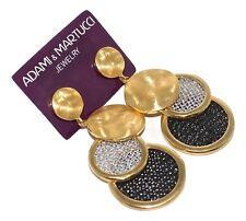 Adami & Martucci Tri-Circle Mesh Earrings in Yellow Gold Plating - RRP $195