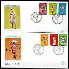 Suriname - 1979 Folklore dresses - Mi. 858-63 clean FDC's