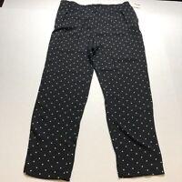 Cynthia Rowley Black Polka Dot Pull On Dress Pants Sz 10 New A1829