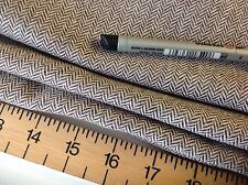 "NEW High Class Designer Multi Colour Wool Herringbone Fabric 61""156cm Brown Boss"