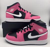 Nike Air Jordan Mid 1 (GS) Black White Pinksicle 555112-002 Youth/Women's NEW