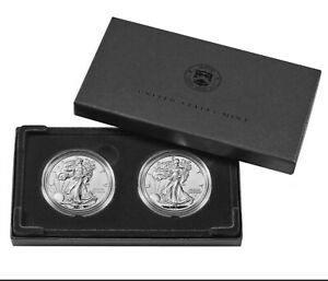American Eagle 2021 1 Ounce Silver Reverse Proof 2 Coin Set Designer Edition 