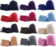Sansam 48pcs 12 Colors Mixed Drawstrings Velvet Gift Bags Jewelry Pouches For