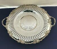 BM Mounts Marlboro Old English Reproduction Silver Plate Serving Tray Dish Grape