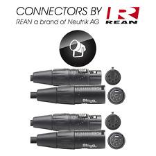 2 Câbles DMX  XLR 5 Broches Mâle vers XLR 5 Broches Femelle REAN Long 15 Métre