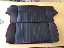 CLASSIC MINI REAR SEAT COVER BLACK / RED PIPING