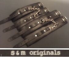Bondage Leather hand cuffs ankle restraints High quality guaranteed 2018 edt