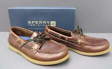 Men Sperry Top-Sider 0195214 Brown Amaretto Leather Two Hole Casual Boat Shoe 9W