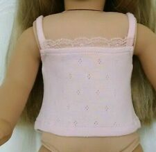 """American Girl Our Generation 18"""" Doll Clothes Pink Lace Camisole Tank Top"""
