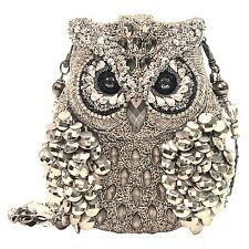 Mary Frances Wisdom Owl Silver Mercury Silver Bag Purse Handbag NEW Resort 2014
