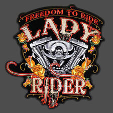 Lady rider Twin Engine Patch  4 inch
