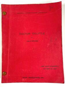 1965 DOCTOR DOLITTLE vintage original first draft film script MOVIE SCREENPLAY