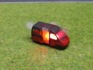 Spur N TT Ford Transit Vollbrand Brennend 12V LED Feuer 1:160 Laser Cut