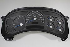 03-04 BUY REMAN CK SILVERADO REPLACEMENT CLUSTER BLUE/SILVER NEEDLES $50 REBATE