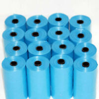 20 Rolls 400PCS Dog Pet Waste Poop Poo Refill Core Pick Up Clean-Up Bag Blue