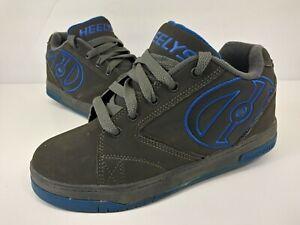 Heelys Propel 2.0 770508 Gray Blue Skate Shoes Boys Youth Size 5