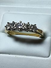 18ct. 18k. 750. Yellow Gold Diamond Ring. Approx 1.00ct . Size P