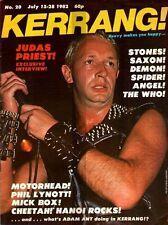 Rob Halford of Judas Priest on Kerrang Magazine Cover 1982 No: 20     Motorhead