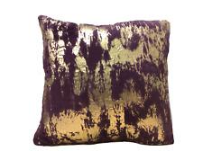 """Envogue Decorative Pillows Faux Fur Purple Gold Size 20"""" x 20"""""""