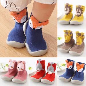 HOWELL Baby Socks with Rubber Sole Anti-Slip Floor Socks Boys Girls First Walker Sock Shoes Indoor Outdoor Slipper