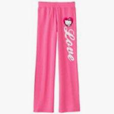 GIRLS PINK HELLO KITTY LOVE YOGA WARMUP TRACK CASUAL PANTS SIZE 16 XLARGE NWT