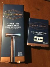New King C Gillette Double Edge Safety Razor Plus 10 Extra Blades Pack Brand New