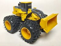 """John Deere 4 wheels Front End Loader Diecast and Plastic 5"""" inch long"""