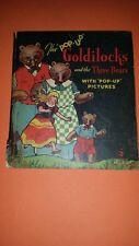 1934 Blue Ribbon Pop Up Book Goldilocks & the Three Bears