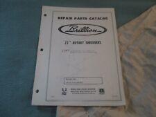 Brillion Repair Parts Catalog 72 Rotary Shredders Used