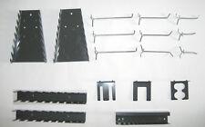Metall Haken Werkzeughalter Set grau für Lochwand Werkstatt Garage Werkzeug Neu