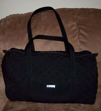 Vera Bradley Microfiber Quilted Large-Extra Large Duffel Black  Good Condition!