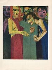 """1959 Vintage EMIL NOLDE """"DOUBTING THOMAS"""" JESUS CHRIST COLOR Offset Lithograph"""